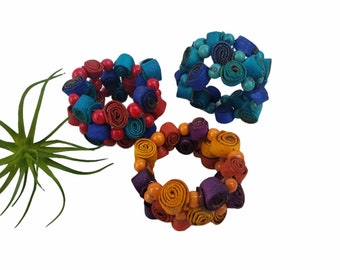 Wrap orange peels bracelet/Organic seeded bracelet/boho jewelry/Layered bracelet/ Recycled orange peels bracelets/Eco friendly bracelet