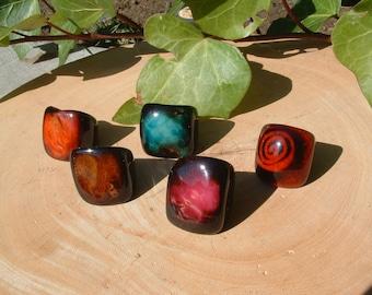 Tagua RINGS size 5.5 / Rustic Rings/ Bold Chunky Rings/ Nut Rings/ Statement Rings/ Bold Rings/ Organic Rings/ Batik Rings
