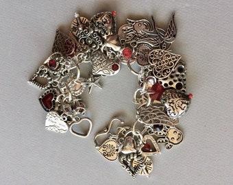LOVE Theme Charm Bracelet
