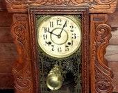 Victorian New Haven, Ct, Clock Makers Shelf Mantel clock