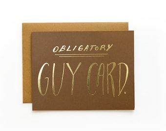Guy Card - letterpress card
