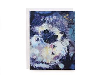 Hedgehog Hi - Letterpress card