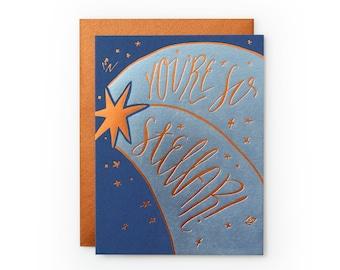 So Stellar - letterpress card