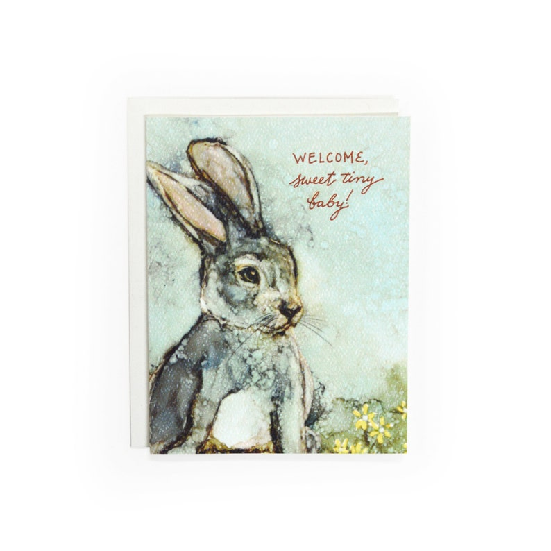 Sweet Tiny Baby Letterpress card