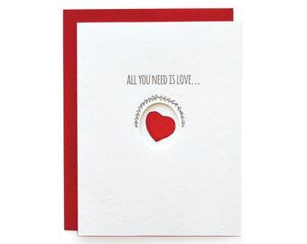Chocolate - letterpress card