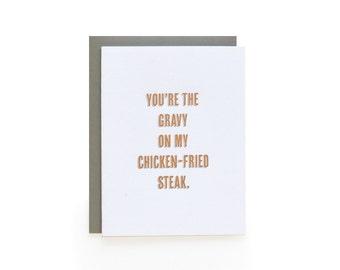 Chicken-Fried - letterpress card