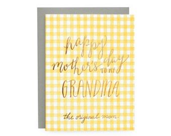 Original Mom - letterpress card