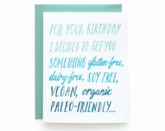 Free Birthday - letterpress card