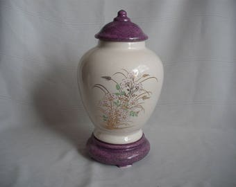 Medium Ceramic Cremation Urn With Base