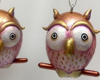 Gold Owl Ornament