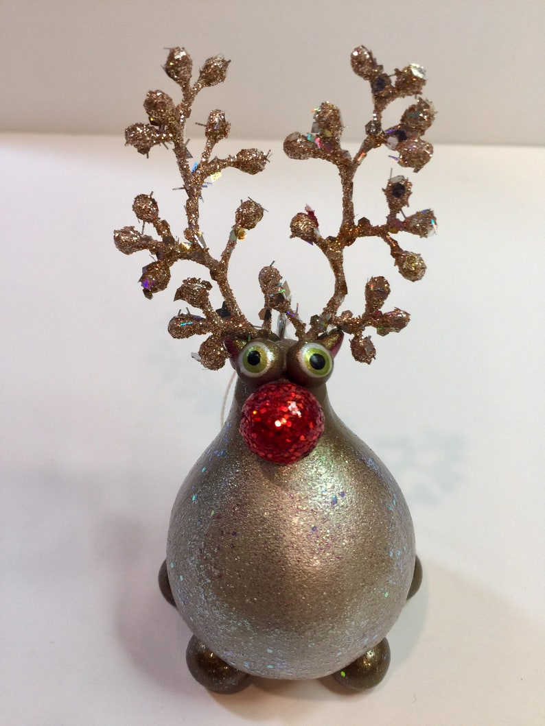 Rudolph the Red Nosed Reindeer Gourd Ornament image 0