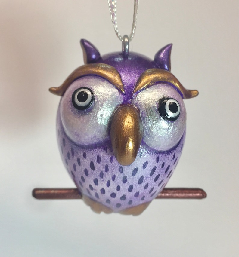 Pretty Purple Owl Ornament image 0