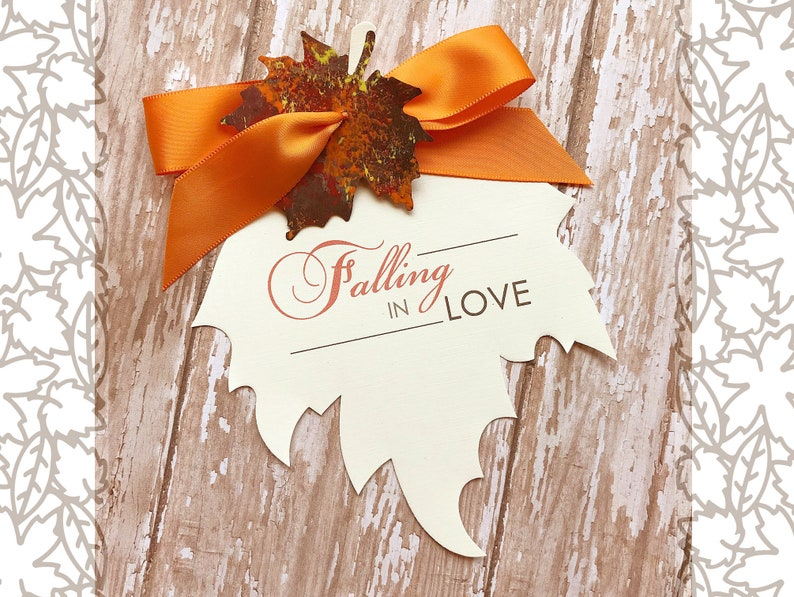Falling in Love Fall Wedding Save the Date Autumn Wedding image 0