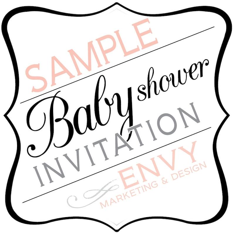 SAMPLE Baby Shower Invitation Envy Marketing Baby Shower image 0