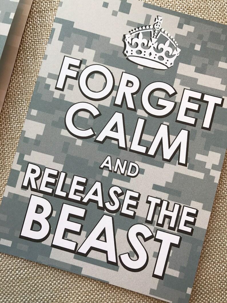 8#, Air Force Card, Basic Training Card, Military Card, Beast Week Card,  Keep Calm Card, Release the Beast Card, Proud Air Force Mom, Camo