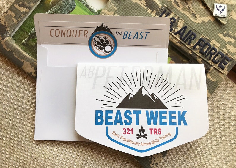 9 Air Force Card Basic Training Card Military Card Beast image 0