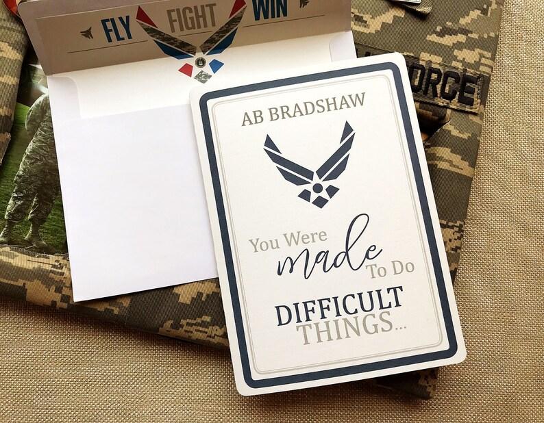 30 Air Force Card Basic Training Card Military Card image 0