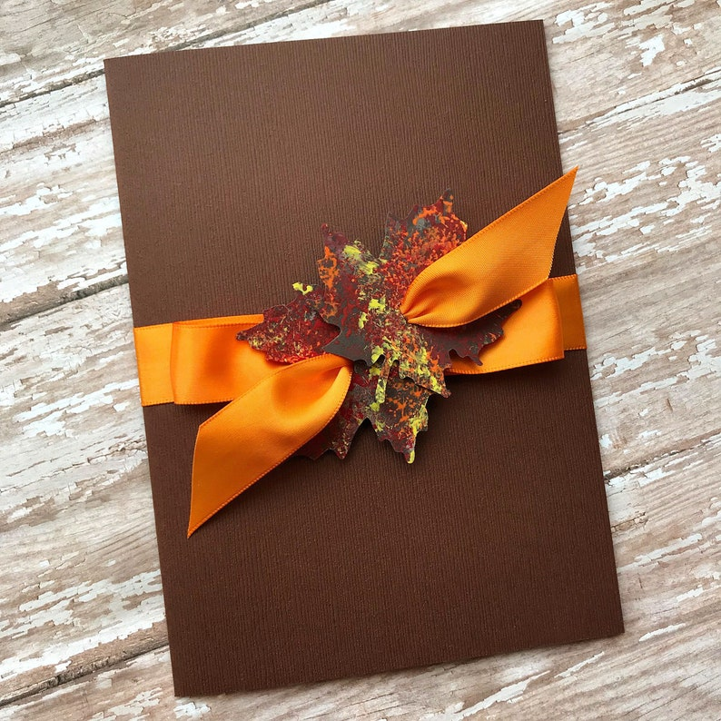 Fall Wedding Invitation Autumn Wedding Invitation Fall Leaf image 0