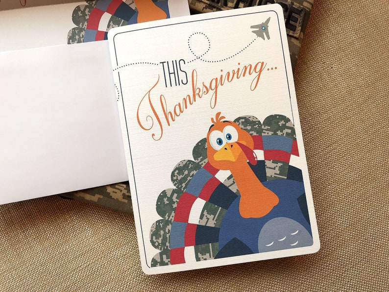 25 Thanksgiving Air Force Card Set Holiday Air Force Card image 0
