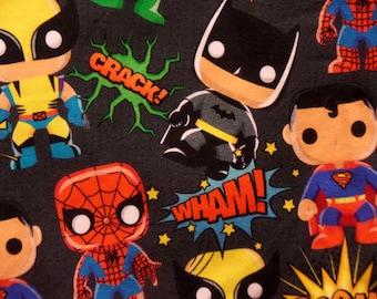 f56fae92 Super Hero Knit Fabric - Batman Knit Fabric - Spider Man Knit Fabric - DC Marvel  Comic Cotton Spandex - Kids Knit Fabrics - Superman Fabric