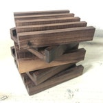 Authentic Walnut Coaster Holder | Dark Brown | Coaster Stand For Tile Coasters | Limited Edition
