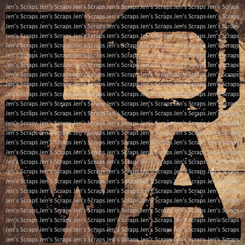 DIGITAL DOWNLOAD 2 Pack Rustic Iowa png Digital Download image 0