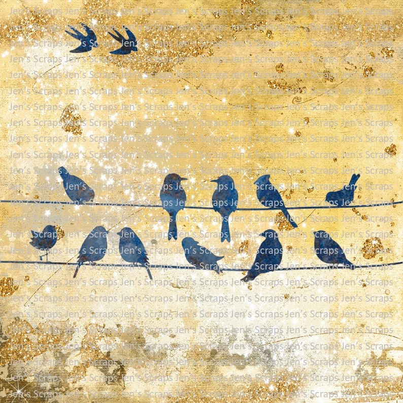 DIGITAL DOWNLOAD Birds on a Wire PNG Digital Download Digital image 0