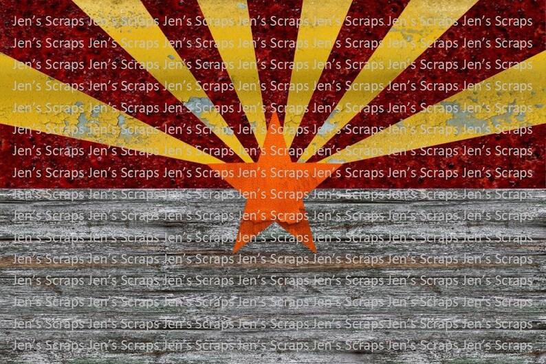 DIGITAL DOWNLOAD Rustic Arizona Flag png Digital Download image 0