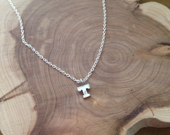 Dainty Sterling Silver Initial Necklace