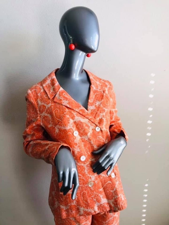 Sixties Mod Sara's Pristine Pant Suit in Orange L… - image 6