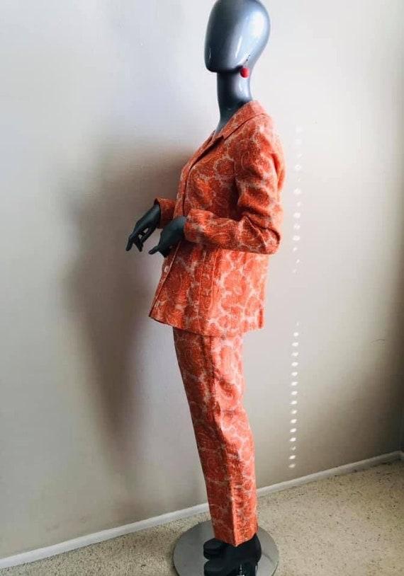 Sixties Mod Sara's Pristine Pant Suit in Orange L… - image 2