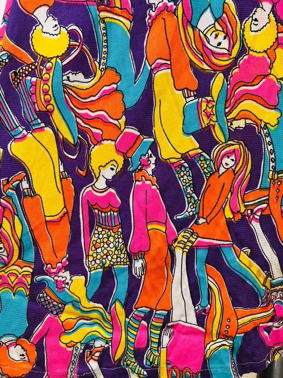 60s Groovy Psychedelic Mod BoHo People Dress - image 4