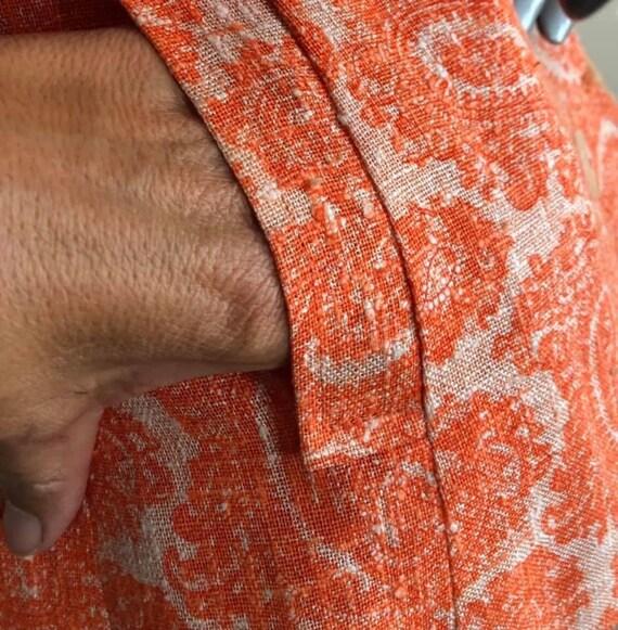 Sixties Mod Sara's Pristine Pant Suit in Orange L… - image 5