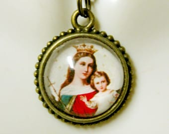 Madonna and child necklace - AP17-611