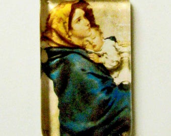Madonna of the streets pendant with chain - GP12-300