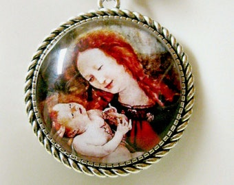 Madonna and child pendant and chain - AP25-001