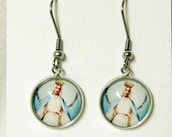 Miraculous medal earrings - AP18-203