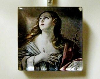 Saint Mary Magdelena pendant with chain - GP02-006D