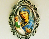 Madonna and Child necklace - Russian Icon