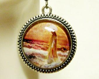 Christ walking on water earrings - AP06-165