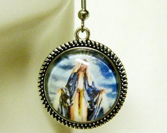 Miraculous medal earrings - AP06-048