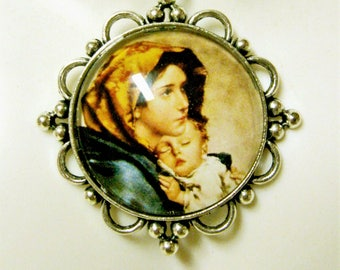 Madonna of the streets pendant and chain - AP26-033
