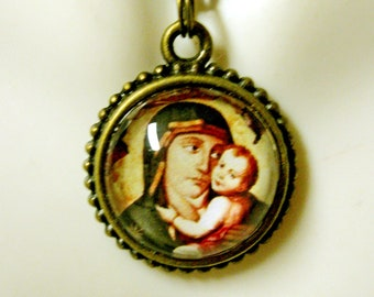 Madonna and child necklace - AP17-614
