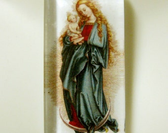 Madonna and child pendant with chain - GP12-363