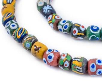 Natural Medley papier recyclé Perles d/'Ouganda 14 mm africain multicolore mixte