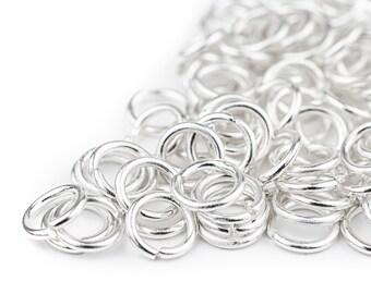 """250 Key Rings Chains 3//4"""" Split Ring Hoop Metal Loop Steel"""