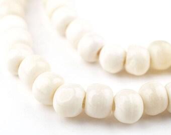 Beads Philippine White Bone Discs 5-6mm