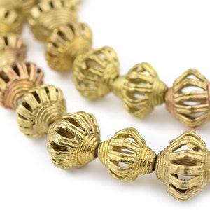 BrassSing 21 hole 4-5mm. 13 mm 3 Ashanti African Trade lost wax cast brass bead from Ghana