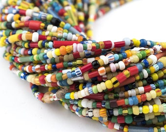 400 Small Vintage Christmas Beads: African Love Beads Czech Seed Beads Tribal Glass Beads 3mm Glass Beads African Beads (XMAS-MIX-MIX-215)
