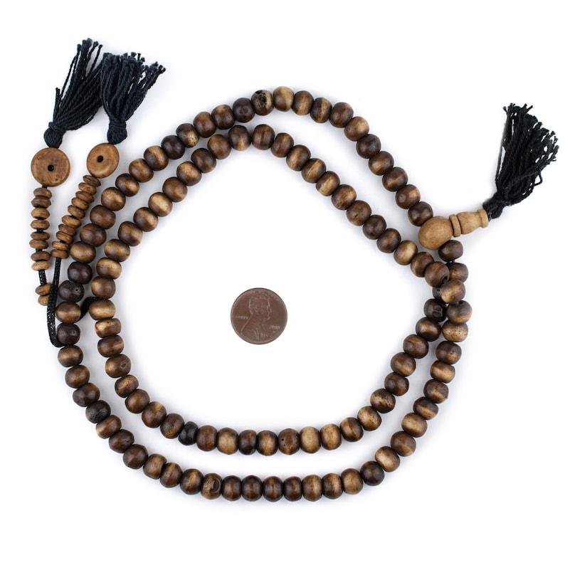 Mala Necklace Yoga Meditation Bone Round Beads Nepal Mala Beads Brown Bone Beads 9mm Mala Beads 108 Brown Rustic Bone Mala Beads 8mm